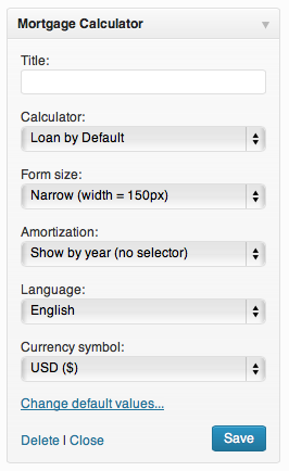 mortgage calculator loan