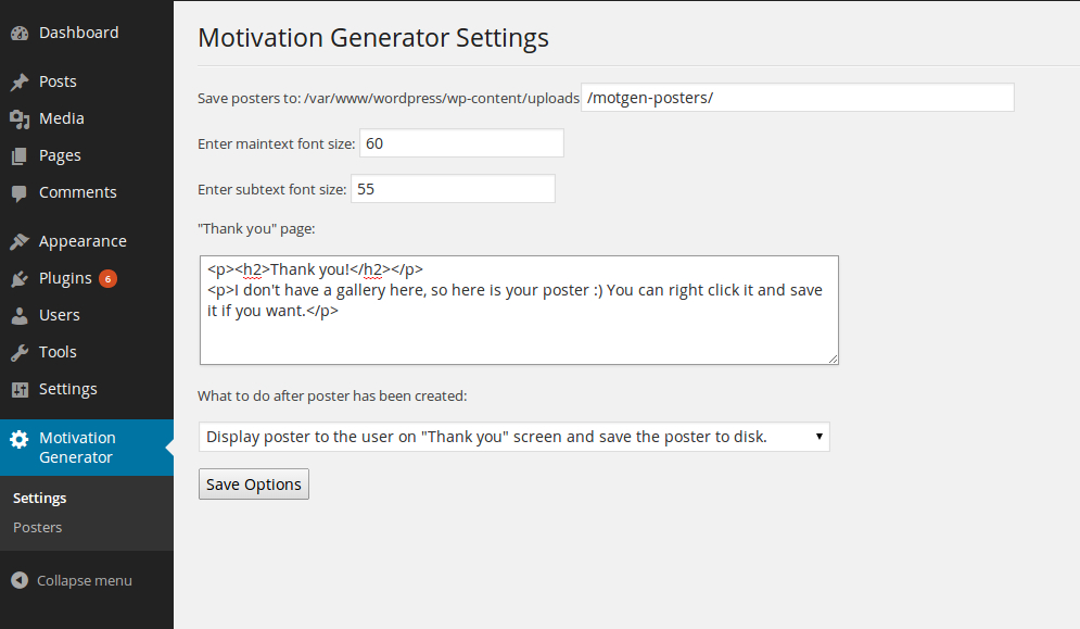 motivation-generator screenshot 1