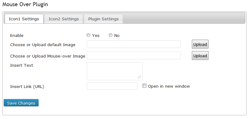 screenshot-2.png   Icon Setting tab:  Upload images, insert text and link.