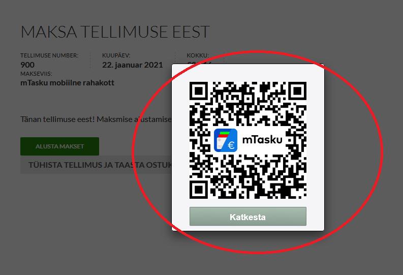 mTasku QR code