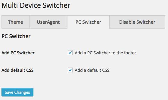 PC Switcher option
