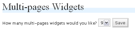Up to 9 widget.