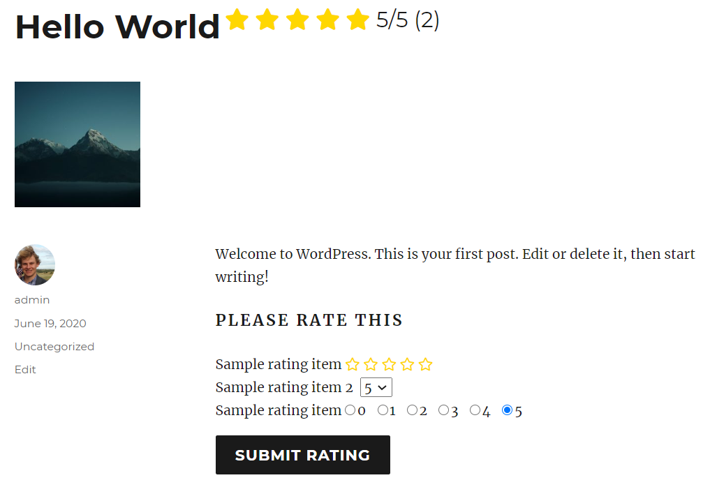 multi-rating screenshot 1