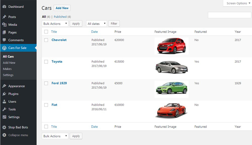 WordPress Dealer Campers, Motorhome, Trucks and more Plugin Multi Dealer