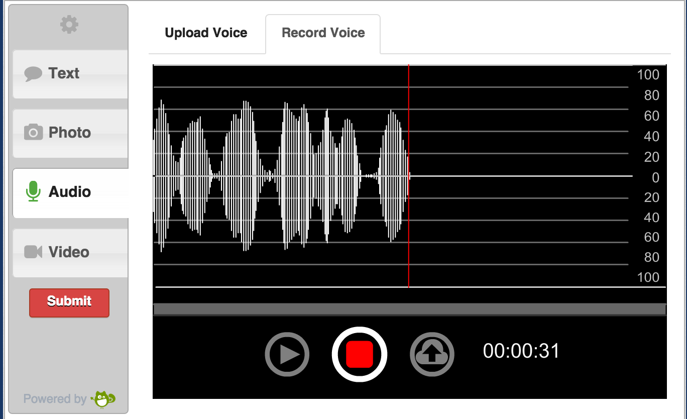 Flash audio recorder on PC web browser