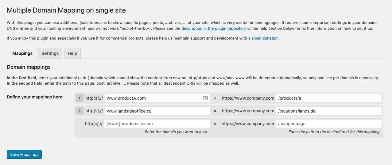 Multiple Domain Mapping on Single Site – WordPress plugin ... on