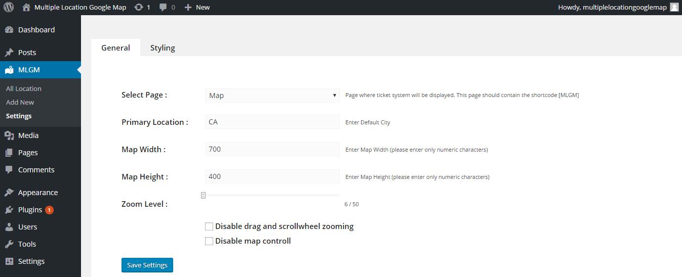 Multiple Location Google Map WordPressorg - Map to add multiple locations
