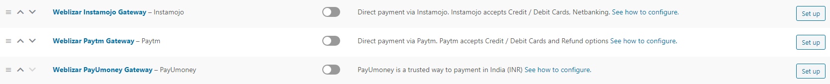 Under Woocommerce > Settings > Payment Options.