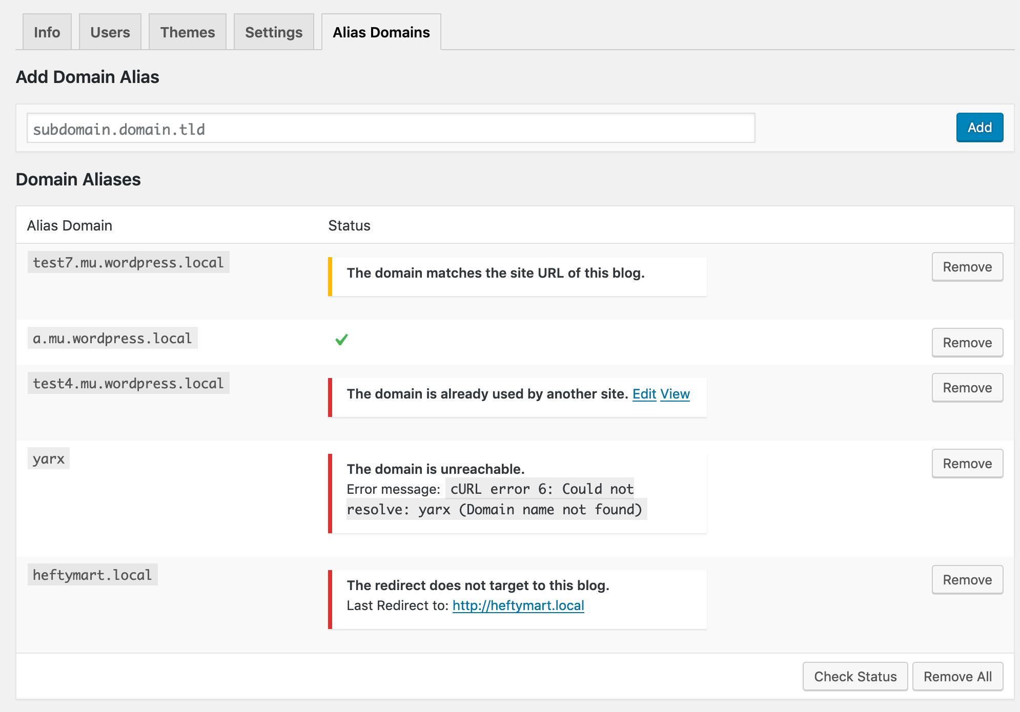 Network admin - Edit site