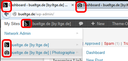Favicon on Admin bar