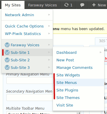 "<p>Multisite Toolbar Additions: New Sub Site/ Blog items located in the parent item for each site. (<a href=""https://www.dropbox.com/s/a0qhymxlpkn1qox/screenshot-3.png"">Click here for larger version of screenshot</a>).</p>"