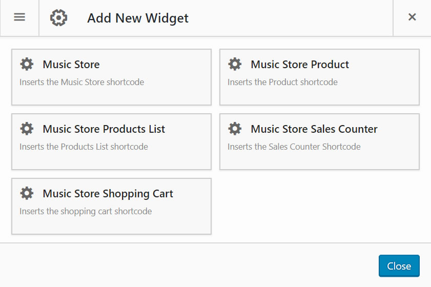 Music Store Insertion Button