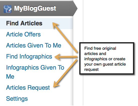 <p>You can choose among already written articles and infographis or post your own request (or both)</p>