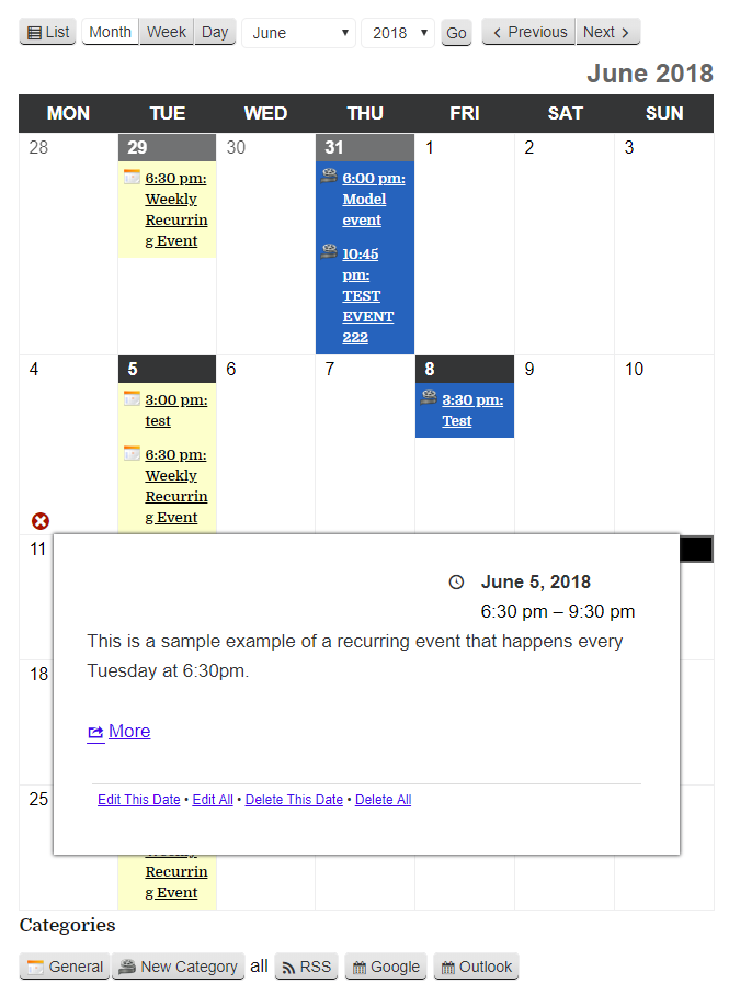 my-calendar screenshot 1