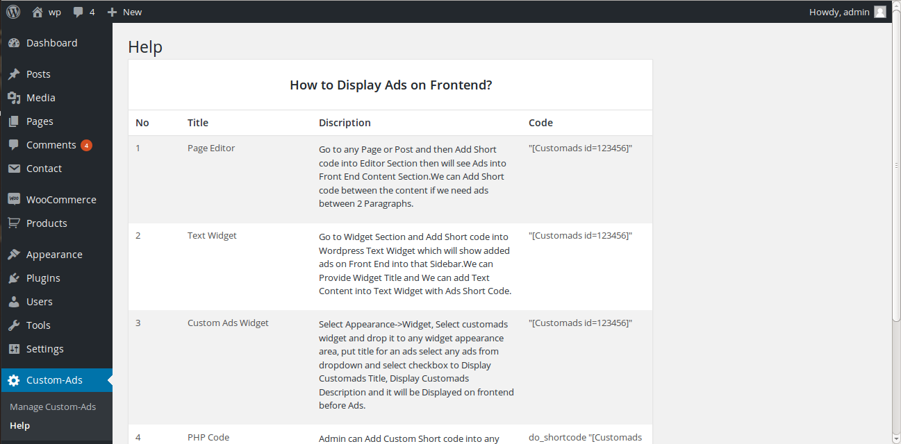 Manage Ads Display