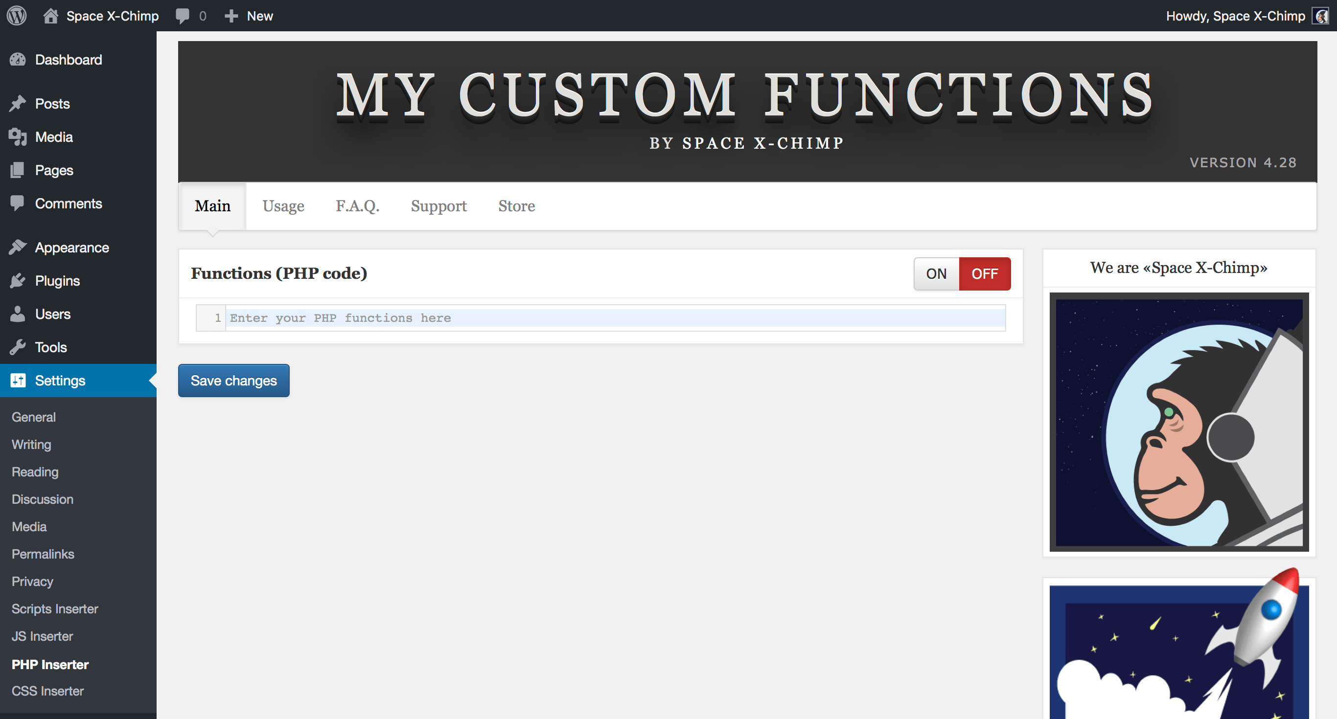 My Custom Functions – WordPress plugin | WordPress org