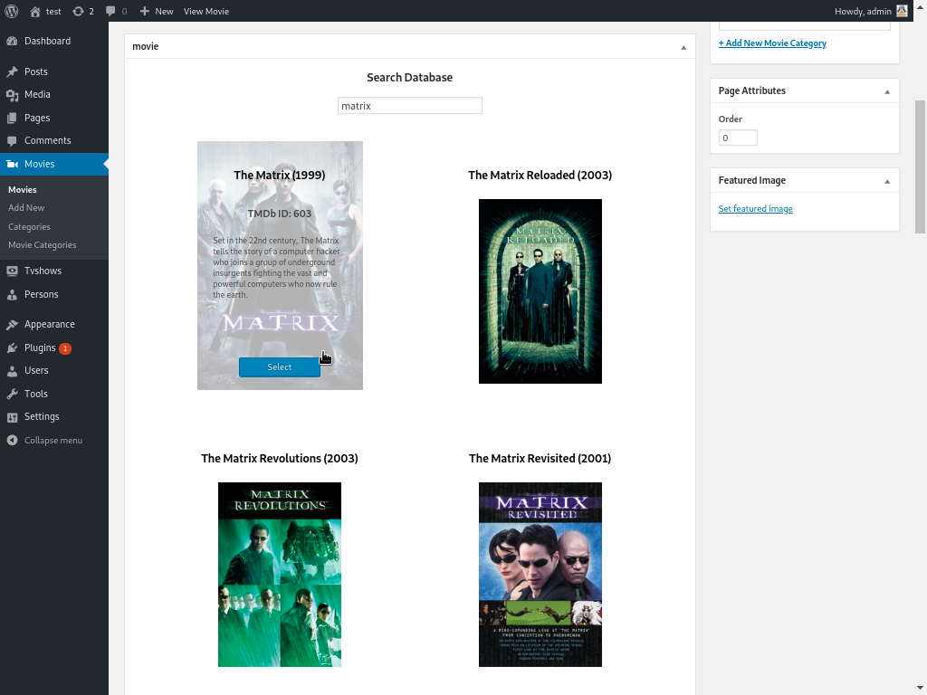 My Movie Database – WordPress plugin | WordPress.org