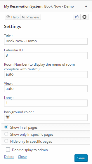 Booking Manager into My Reservation System