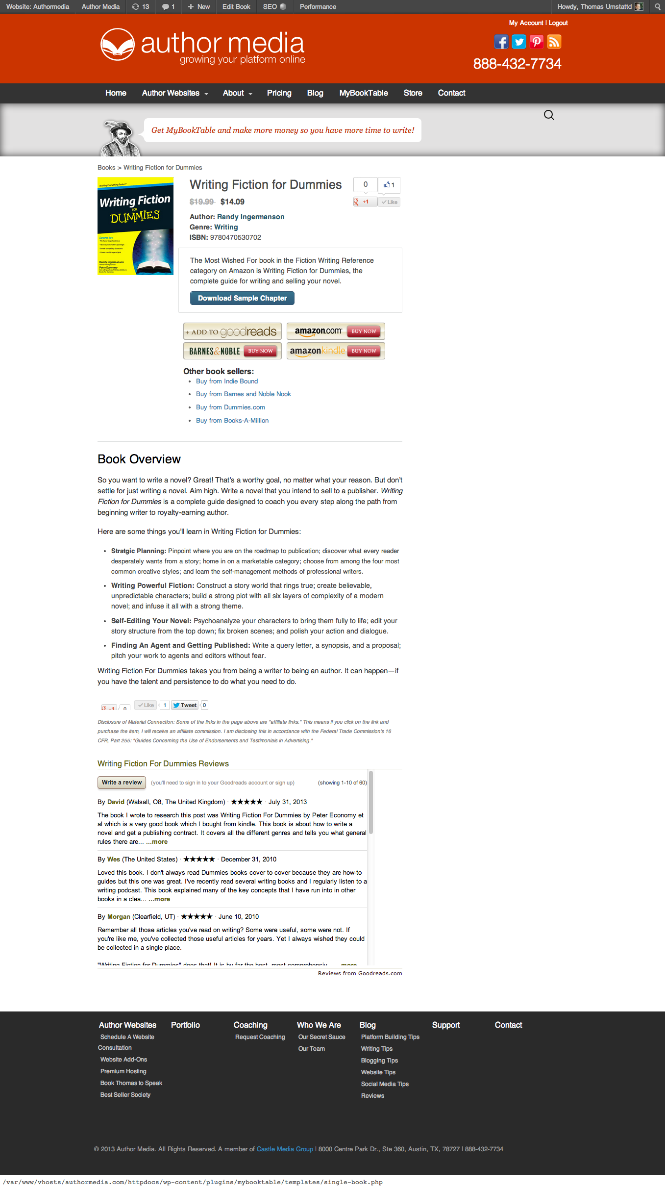 <p>This is an individual MyBookTable page.</p>