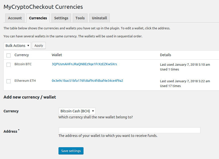 MyCryptoCheckout – Accept 95+ coins: Bitcoin, Ethereum, and more