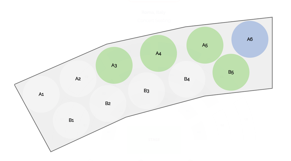 Seat layout example