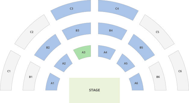 Concert hall/stadium layout example