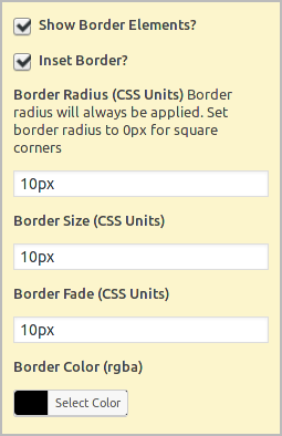 'Border Styles Selector' in fancy image widget form