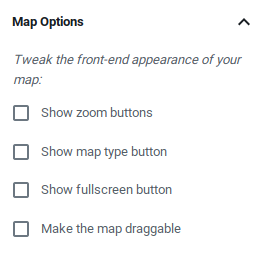Customize your maps' buttons and behavior with simple and comprehensible settings.