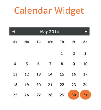 Neptix calendar widget.