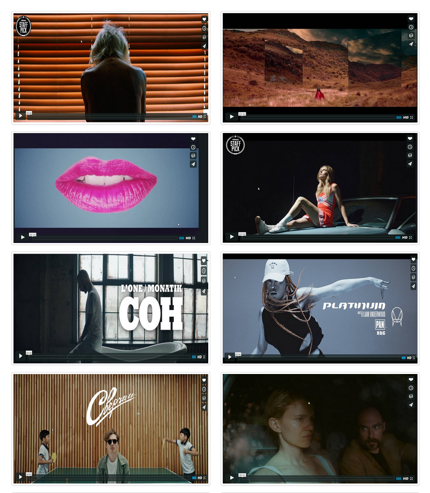 Vimeo Video Gallery With Two Columns