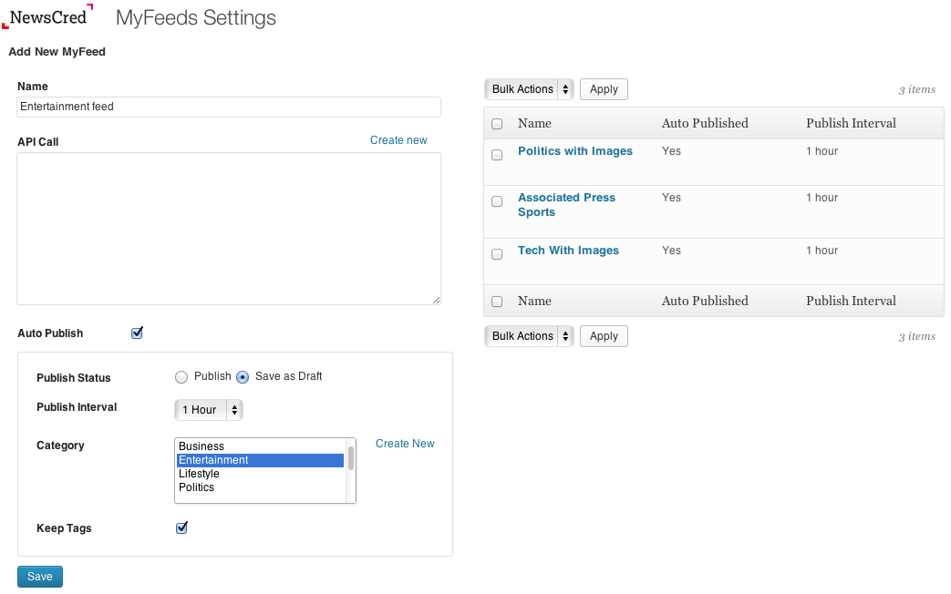Populating your feed has never been easier! You can put your blog on auto-pilot with controls that actually work.