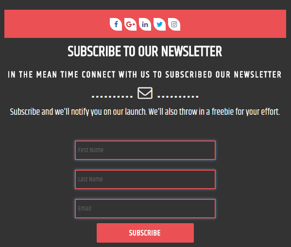 81653541aad31 Newsletter Subscription Form – User Subscriptions Form, Capture ...