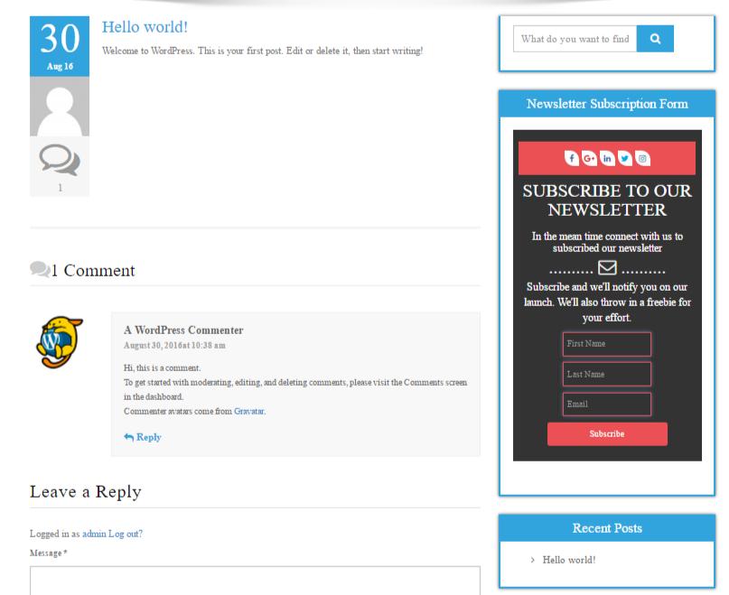Newsletter Subscription Form — WordPress Plugins