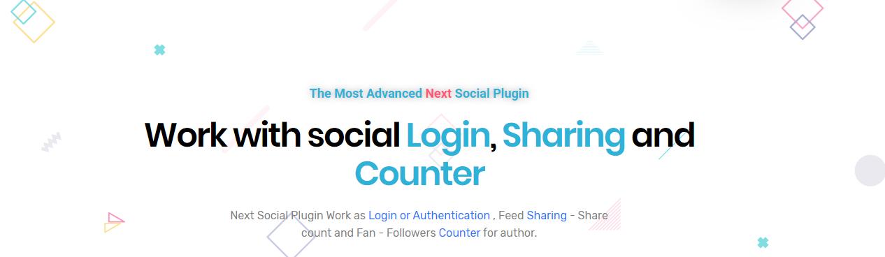 Next Social (Login & Register / Feed Sharing / Social Counter)