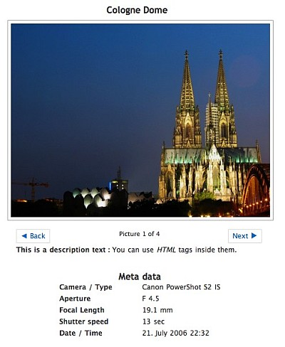 Screenshot - Shows Exif data