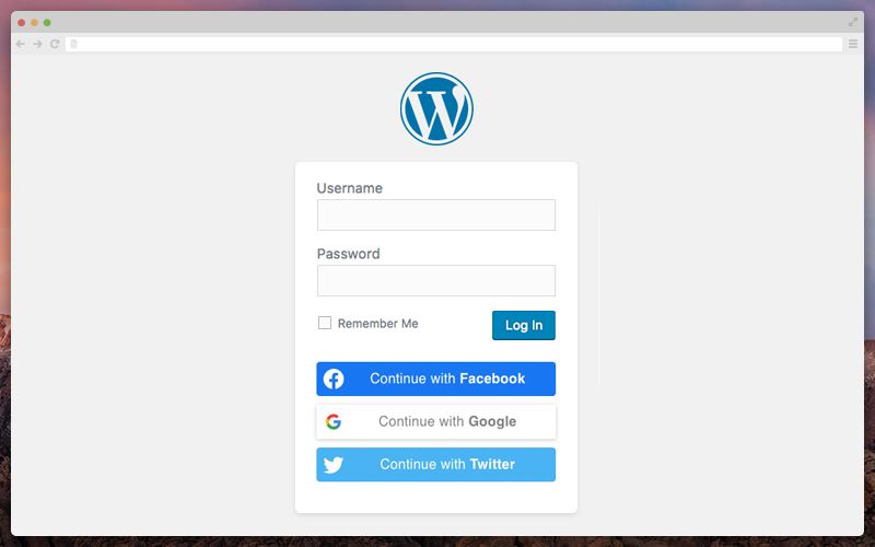 Nextend Social Login and Register on the main WP login page