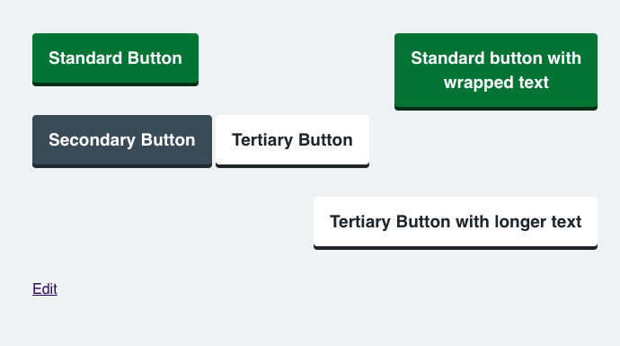 Buttons - Restyling of buttons to match NHS Digital layouts