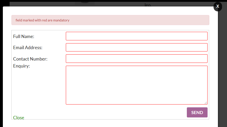 Product Enquiry Form.
