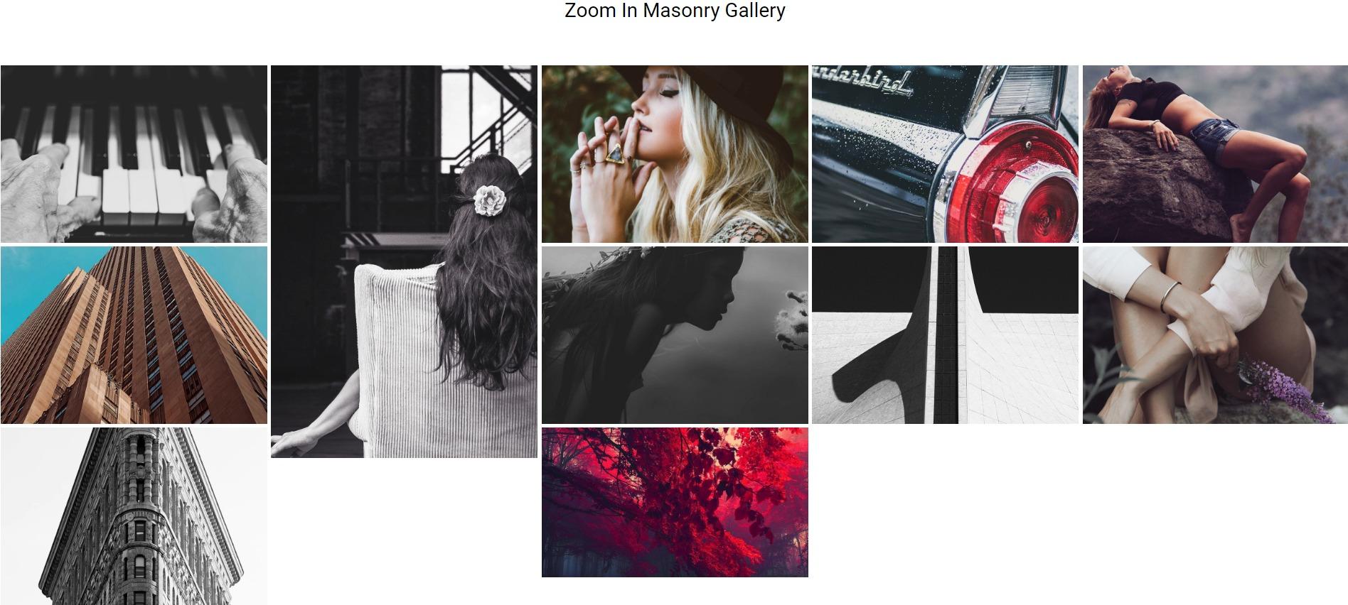 Masonry Layout in Gallery Module
