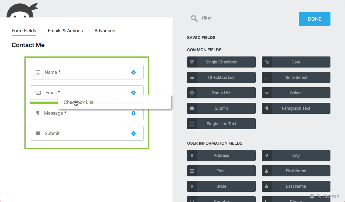 ninja forms the easy and powerful forms builder wordpress org
