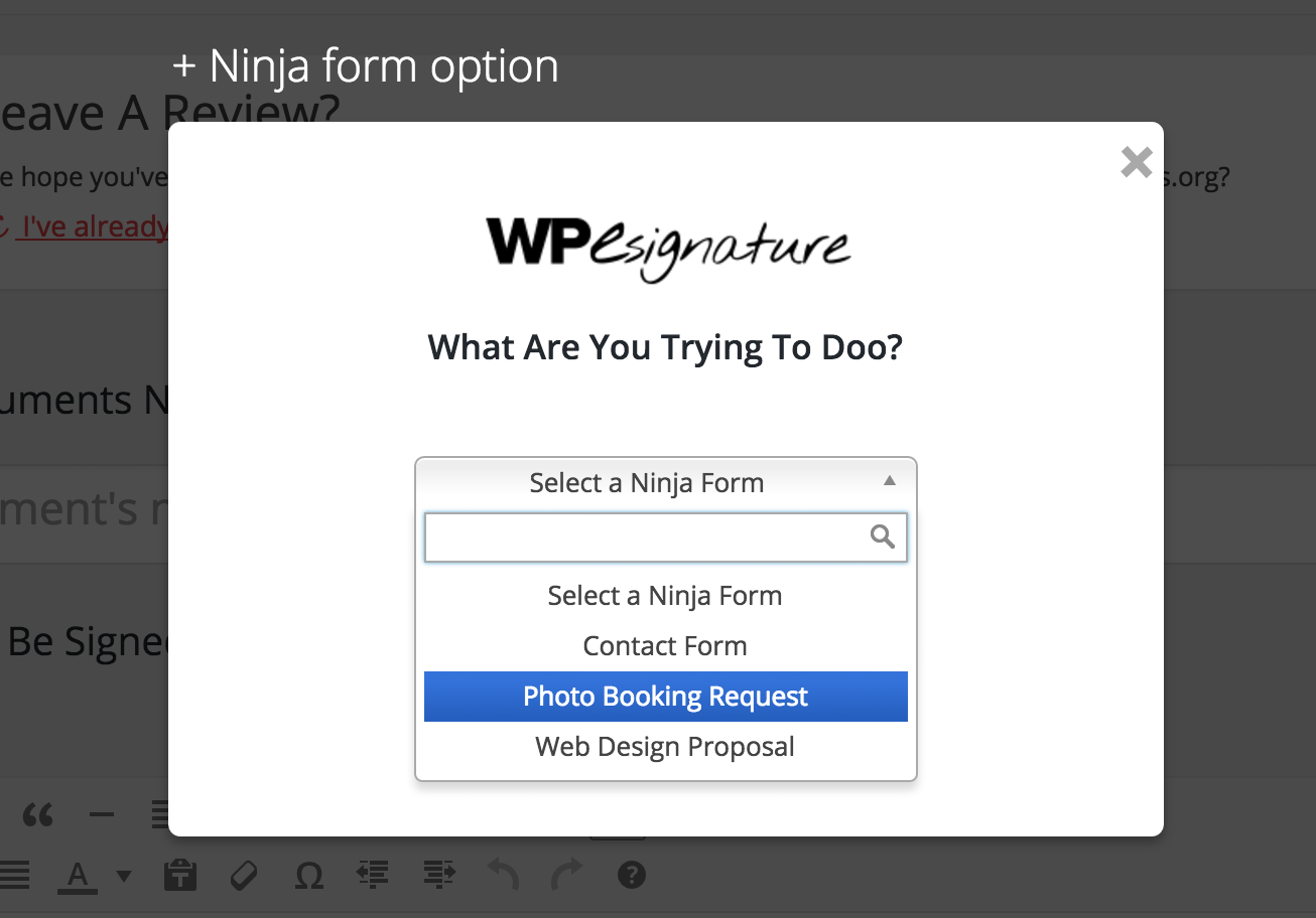 Ninja Forms Signature Contract Add-On – WordPress plugin