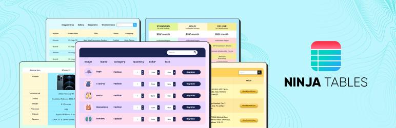 Ninja Tables – WP Data Table Plugin for WordPress