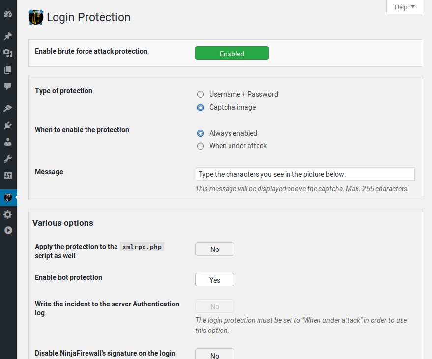 Login page protection: the fastest and most efficient brute-force attack protection for WordPress.