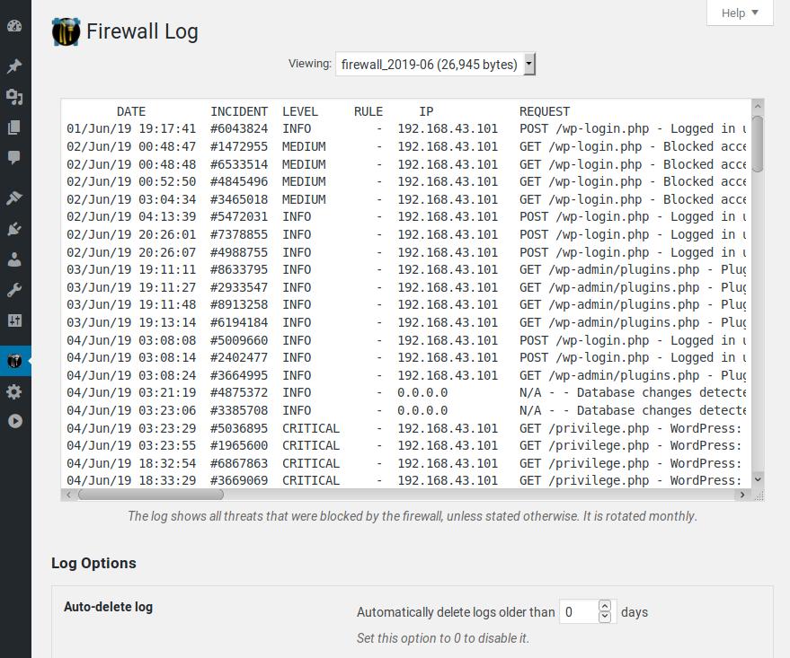 Firewall Log.