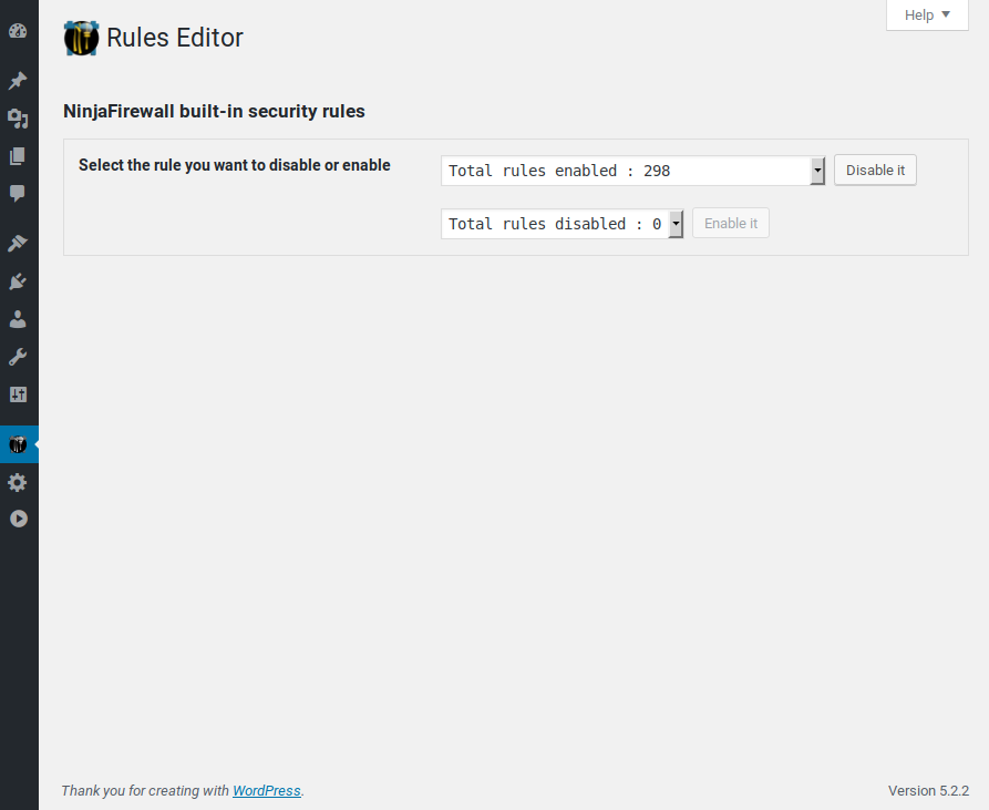 Rules Editor.