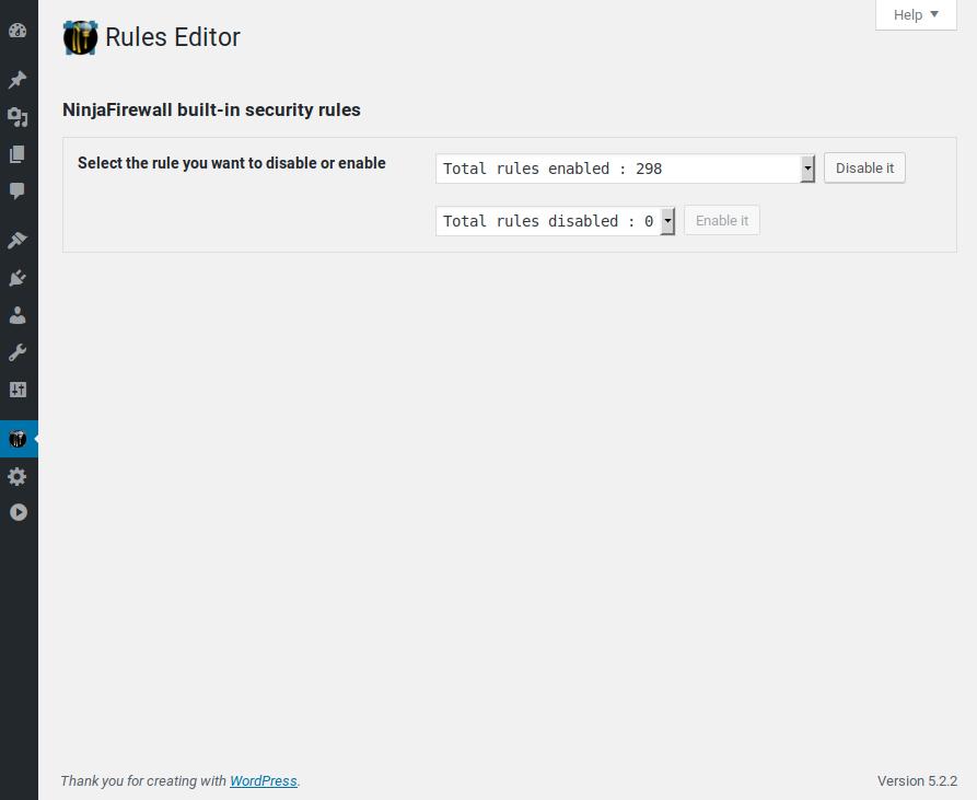 Rules Editor.