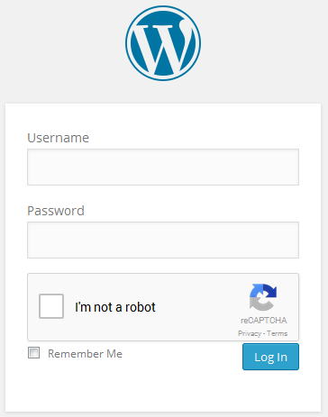 CAPTCHA in action at login form