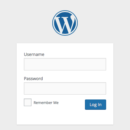 The login screen with this plugin installed
