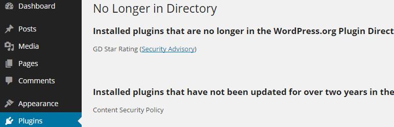 No Longer in Directory