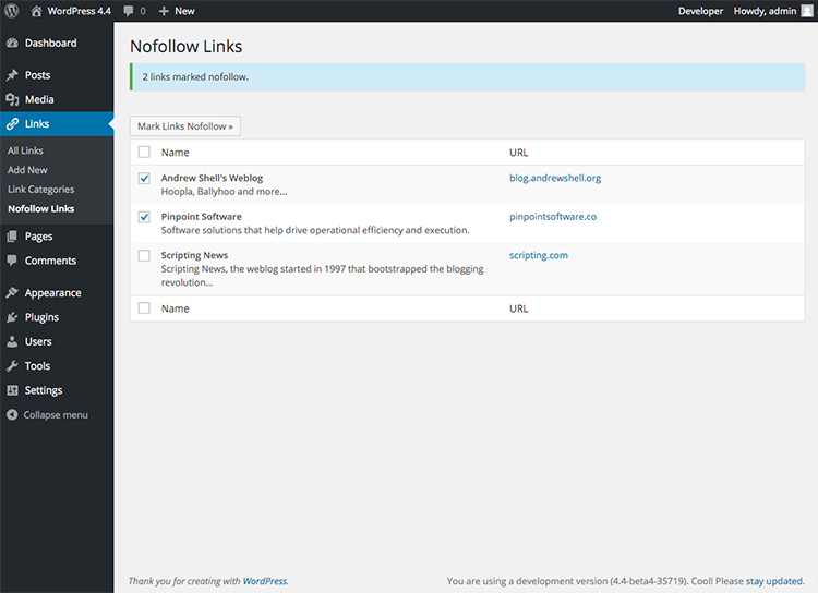 nofollow-links screenshot 1
